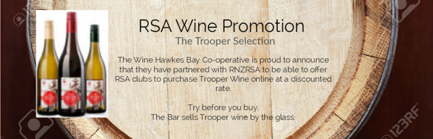 RSA Wine Promotion – The Trooper Selection