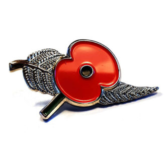 Silver Fern Poppy Pin